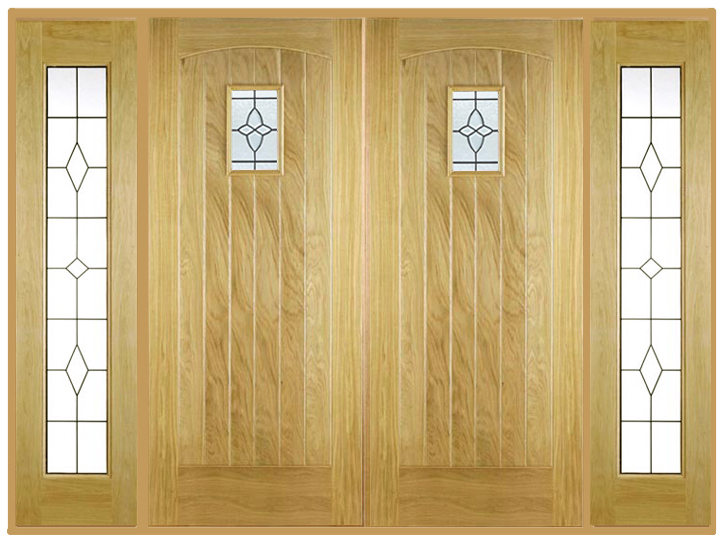 Cottage Double Front Doors With Sidelights Internal And