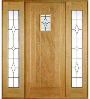 Solid oak external cottage doors