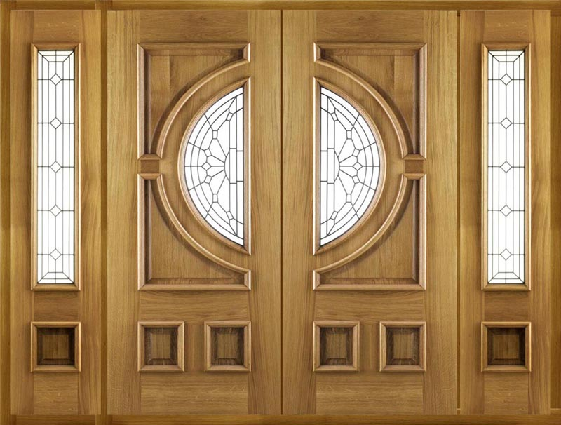 Empress oak doors empress external oak doors empress for External double doors and frames