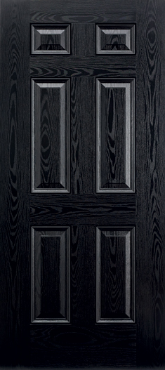 white wood door. 6 Panel Composite Black \u0026 White External Door Wood