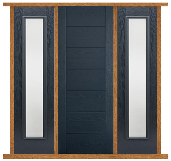 Oak Modica Door With Sidelights Oak Door With Side Panels