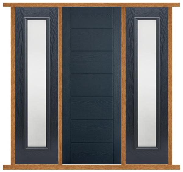 Oak Modica Door With Sidelights Oak Door With Side Panels