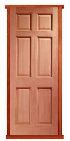 Colonial 6 Panel Hardwood External Pre-hung Door Set : door hung - pezcame.com