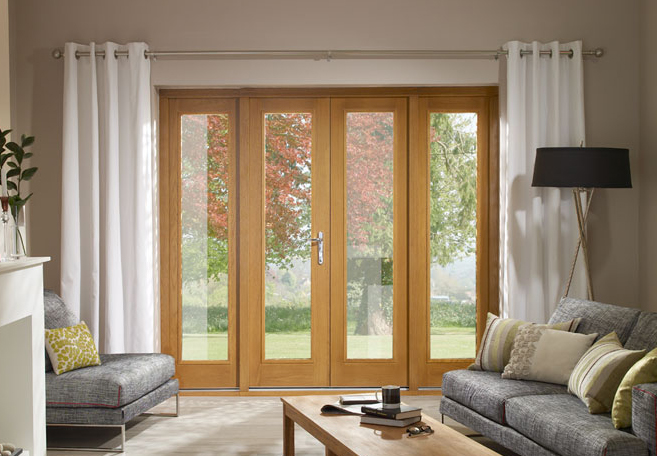 La porte french doors laoporte french doors laporte oak for Oak french doors external