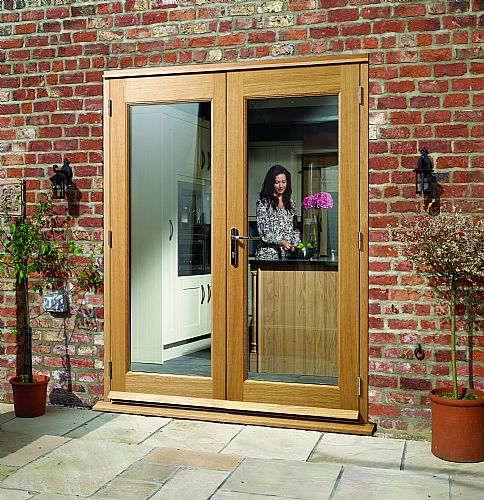 La porte french doors laoporte french doors laporte oak for Porte in french