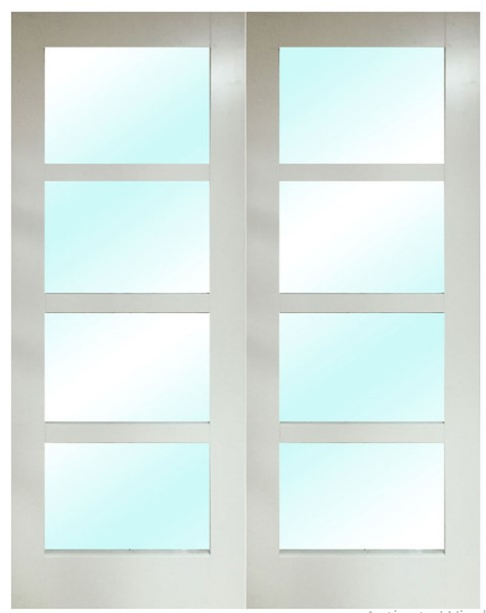 Shaker French Doors Shaker Door Pair White French Doors White