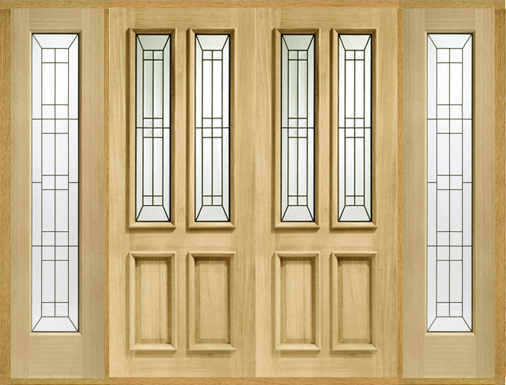 Double Front Door With Sidelights malton double front doors with sidelights: internal and external
