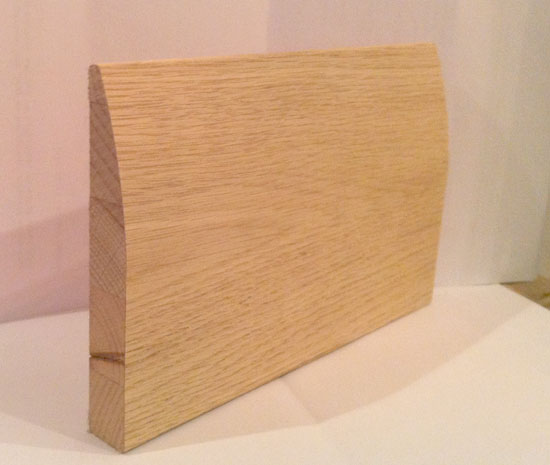 Oak skirting solid oak skirting white oak skirting for Hardwood skirting