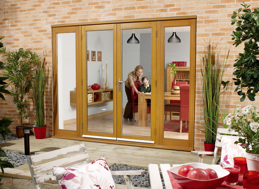 NuVu External Oak French Doors + Sidelights   Un Finished (44mm)