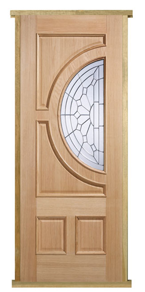 Oak empress pre hung door set internal and external for Pre hung doors