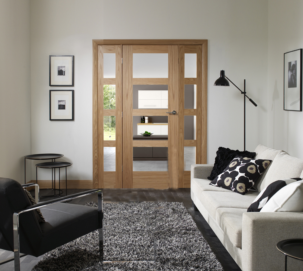 Double Shaker Doors Opaque Glass