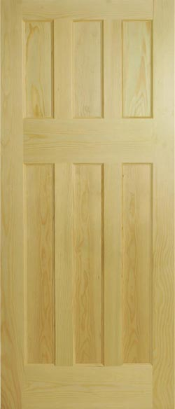 1930u0027s 6 Panel Clear Pine Internal Door