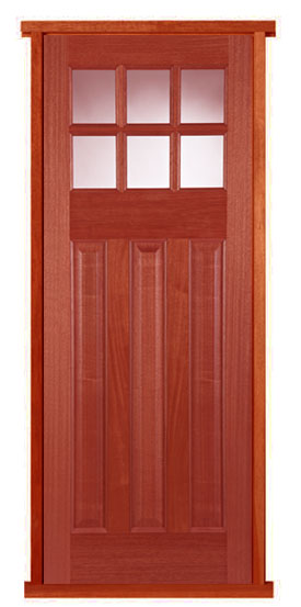Pattern 664 Hardwood Pre Hung Door Set Part 95