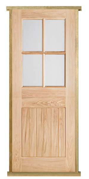 Pre hung 4 light oak stable door set internal and for Pre hung doors