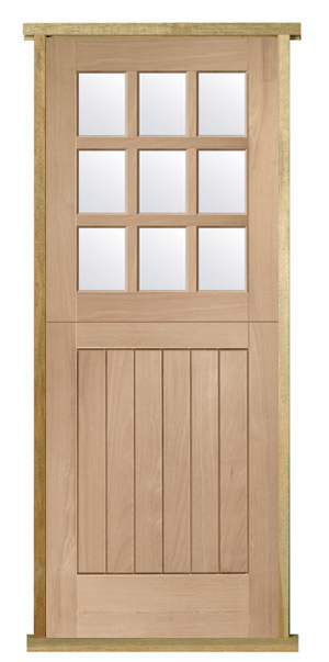 Pre Hung Oak Stable Door 9 Light Internal And External