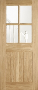Cottage 4-Light External Oak Door