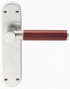 Ascot Leather Lever on Backplate  sc 1 st  Fine Doors & Ascot handle ascot door handle ascot door handles door handles ... pezcame.com