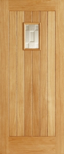 Suffolk 1-Light External Oak Door