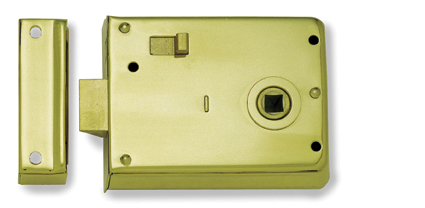 Rim Latch Reversible Internal And External Wooden Front