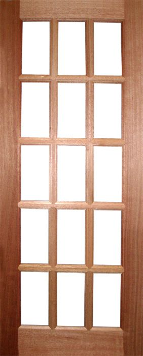 SA 15-Light External Hardwood Door (unglazed) : sa doors - Pezcame.Com