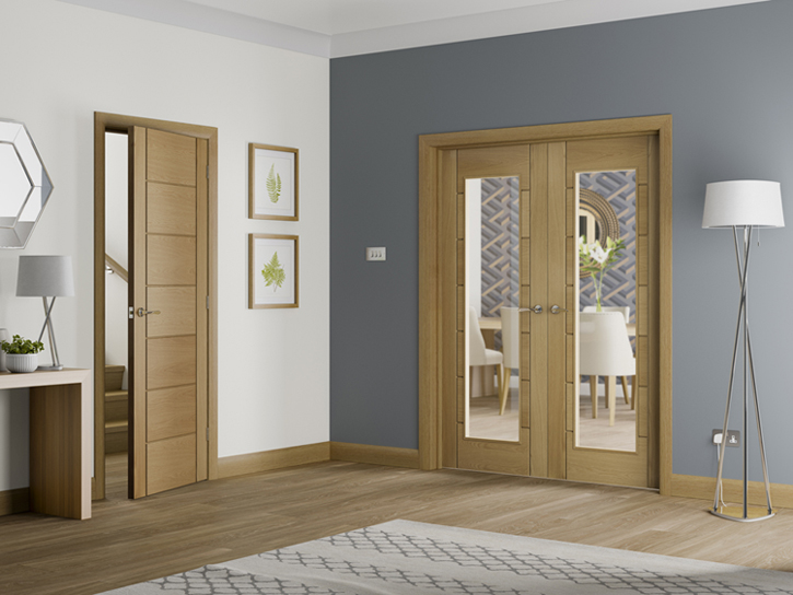 Shaker oak doors shaker internal oak doors shaker doors for Oak french doors