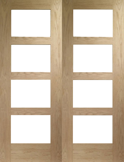 Oak doors oak shaker internal doors for Hardwood french doors