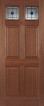 Colonial Top Light External Hardwood Door