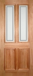 Derby Etched External Hardwood Door