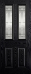 Malton Black & White Glazed External Composite Door