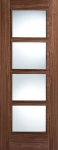 Iseo 4-Light Glazed Walnut Internal Door (pre-finished)