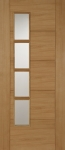 Iseo Deluxe Internal Oak Offset Glazed Door (pre-finished)