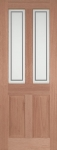 Malton Etched External Hardwood Door