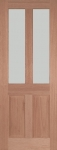 Malton External Hardwood Door with Obscure (frosted) Glass