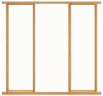 Adjustable Single Door Sidelight Oak Effect Frame Kit (mortice & tenon)