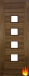 Pamplona Internal Walnut Unglazed Fire Door (pre-finished)