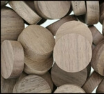 10mm Walnut Plug (for door linings/skirting etc)
