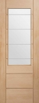 XL Palermo 2XG Internal Oak Door with Etched Glass