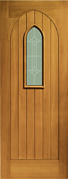 Westminster External Oak Door with Decorative Glass (pre-finished) & Oak doors westminster oak door westminster external oak door ... Pezcame.Com
